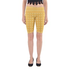 Yellow Pattern Background Texture Yoga Cropped Leggings