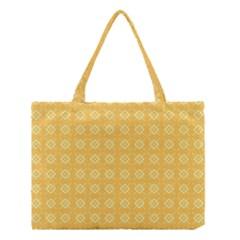 Yellow Pattern Background Texture Medium Tote Bag