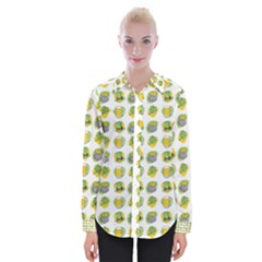 St Patrick S Day Background Symbols Womens Long Sleeve Shirt