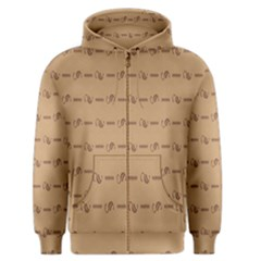 Brown Pattern Background Texture Men s Zipper Hoodie