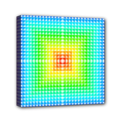 Square Rainbow Pattern Box Mini Canvas 6  X 6  by BangZart