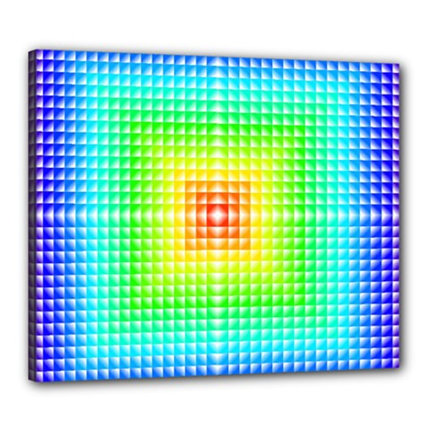 Square Rainbow Pattern Box Canvas 24  X 20  by BangZart