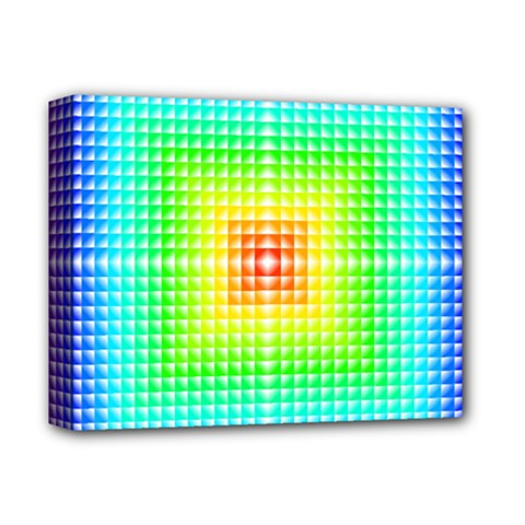 Square Rainbow Pattern Box Deluxe Canvas 14  X 11