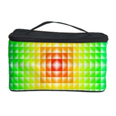 Square Rainbow Pattern Box Cosmetic Storage Case