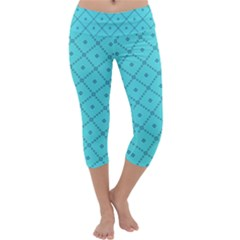 Pattern Background Texture Capri Yoga Leggings