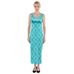 Pattern Background Texture Fitted Maxi Dress