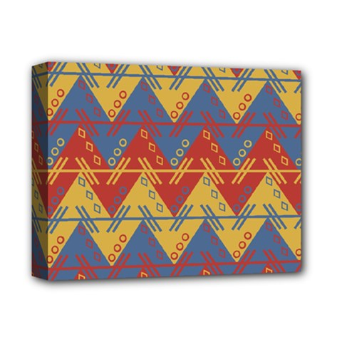 Aztec South American Pattern Zig Deluxe Canvas 14  X 11  by BangZart