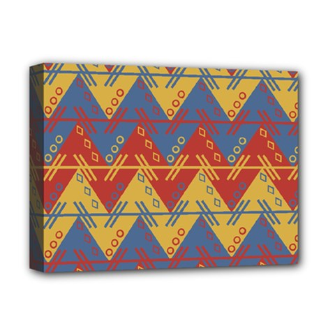 Aztec South American Pattern Zig Deluxe Canvas 16  X 12   by BangZart