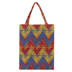 Aztec South American Pattern Zig Classic Tote Bag by BangZart
