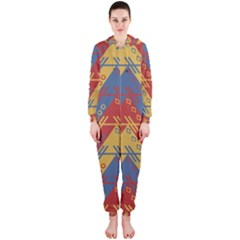 Aztec South American Pattern Zig Hooded Jumpsuit (ladies)