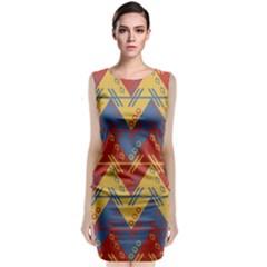 Aztec South American Pattern Zig Classic Sleeveless Midi Dress