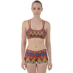 Aztec South American Pattern Zig Women s Sports Set by BangZart
