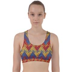 Aztec South American Pattern Zig Back Weave Sports Bra