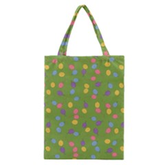 Balloon Grass Party Green Purple Classic Tote Bag by BangZart