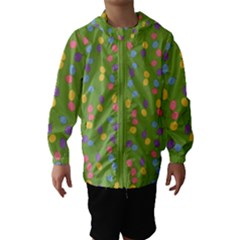 Balloon Grass Party Green Purple Hooded Wind Breaker (kids)
