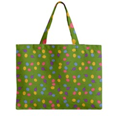 Balloon Grass Party Green Purple Medium Tote Bag