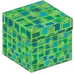 Green Abstract Geometric Storage Stool 12