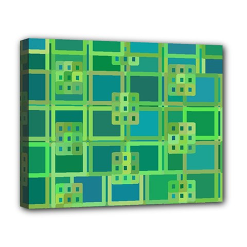 Green Abstract Geometric Deluxe Canvas 20  X 16