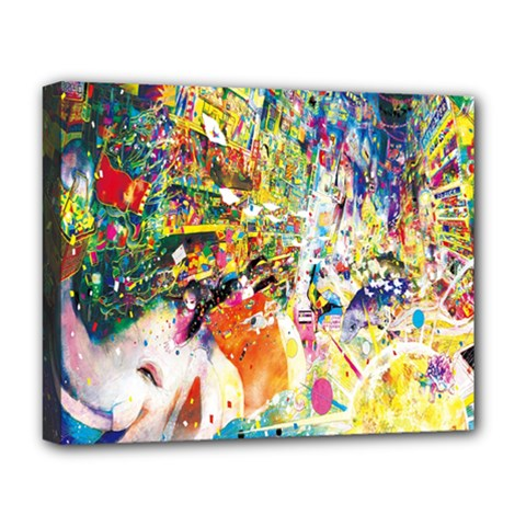 Multicolor Anime Colors Colorful Deluxe Canvas 20  X 16