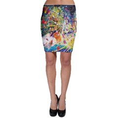 Multicolor Anime Colors Colorful Bodycon Skirt