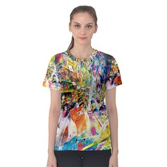 Multicolor Anime Colors Colorful Women s Sport Mesh Tee