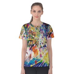 Multicolor Anime Colors Colorful Women s Cotton Tee