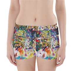 Multicolor Anime Colors Colorful Boyleg Bikini Wrap Bottoms