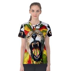 Reggae Lion Women s Cotton Tee