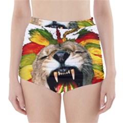 Reggae Lion High Waisted Bikini Bottoms