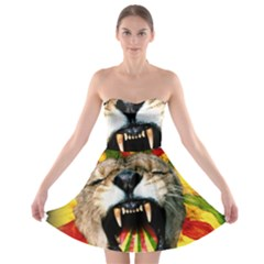 Reggae Lion Strapless Bra Top Dress