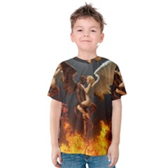 Angels Wings Curious Hell Heaven Kids  Cotton Tee