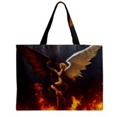 Angels Wings Curious Hell Heaven Medium Tote Bag