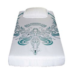 Angel Tribal Art Fitted Sheet (single Size) by BangZart