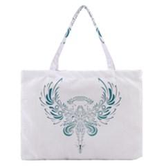 Angel Tribal Art Medium Zipper Tote Bag