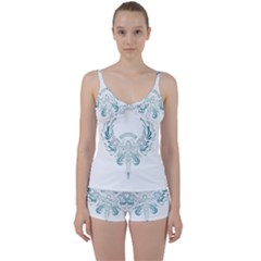 Angel Tribal Art Tie Front Two Piece Tankini