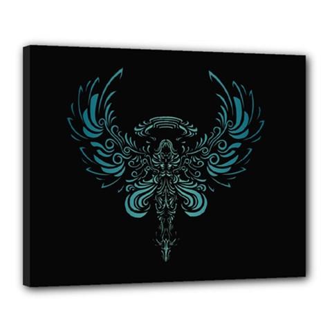 Angel Tribal Art Canvas 20  X 16