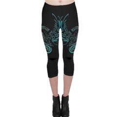 Angel Tribal Art Capri Leggings