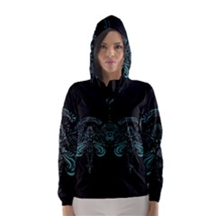Angel Tribal Art Hooded Wind Breaker (women) by BangZart