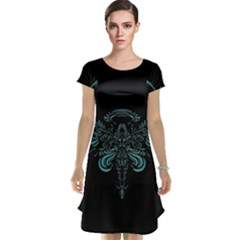 Angel Tribal Art Cap Sleeve Nightdress