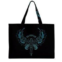 Angel Tribal Art Zipper Large Tote Bag by BangZart