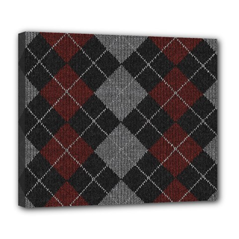 Wool Texture With Great Pattern Deluxe Canvas 24  X 20