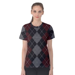 Wool Texture With Great Pattern Women s Cotton Tee