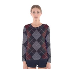 Wool Texture With Great Pattern Women s Long Sleeve Tee