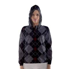 Wool Texture With Great Pattern Hooded Wind Breaker (women)