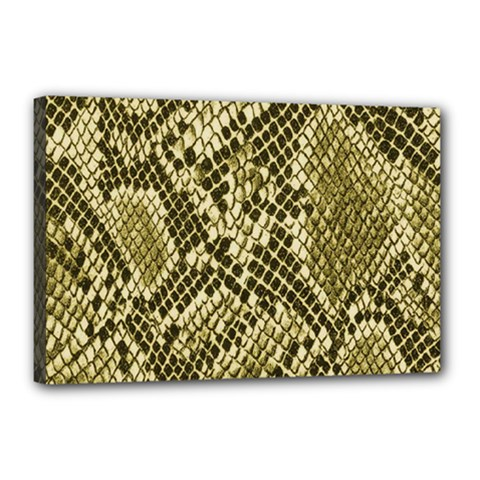 Yellow Snake Skin Pattern Canvas 18  X 12