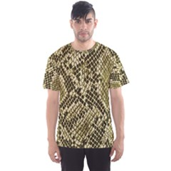 Yellow Snake Skin Pattern Men s Sports Mesh Tee
