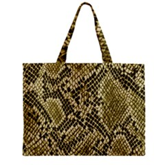 Yellow Snake Skin Pattern Zipper Mini Tote Bag by BangZart