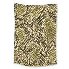 Yellow Snake Skin Pattern Large Tapestry