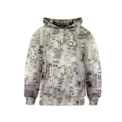 White Technology Circuit Board Electronic Computer Kids  Pullover Hoodie