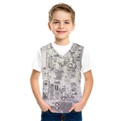 White Technology Circuit Board Electronic Computer Kids  Sportswear